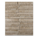 Cappuccino Marble Polished Random Strip Mosaic Tile - American Tile Depot - Commercial and Residential (Interior & Exterior), Indoor, Outdoor, Shower, Backsplash, Bathroom, Kitchen, Deck & Patio, Decorative, Floor, Wall, Ceiling, Powder Room - 4