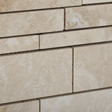 Ivory Travertine Honed Random Strip Mosaic Tile - American Tile Depot - Commercial and Residential (Interior & Exterior), Indoor, Outdoor, Shower, Backsplash, Bathroom, Kitchen, Deck & Patio, Decorative, Floor, Wall, Ceiling, Powder Room - 3