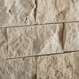 2 X 4 Ivory Travertine Split-Faced Brick Mosaic Tile - American Tile Depot - Shower, Backsplash, Bathroom, Kitchen, Deck & Patio, Decorative, Floor, Wall, Ceiling, Powder Room, Indoor, Outdoor, Commercial, Residential, Interior, Exterior