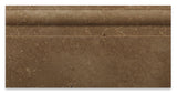 Noce Travertine Honed 6 X 12 Baseboard Trim Molding - American Tile Depot - Commercial and Residential (Interior & Exterior), Indoor, Outdoor, Shower, Backsplash, Bathroom, Kitchen, Deck & Patio, Decorative, Floor, Wall, Ceiling, Powder Room - 2