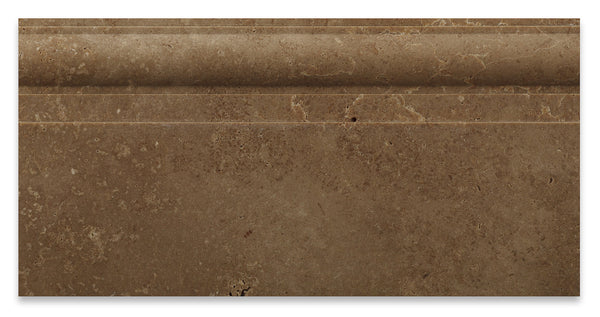 Noce Travertine 6 X 12 Baseboard Trim Molding Honed