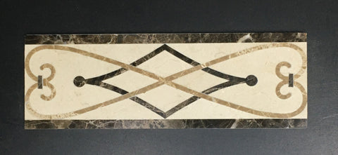 Tucson 4 X 12 Marble Waterjet Border - Polished