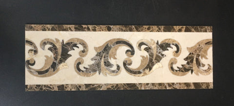 Poros 4 X 12 Marble Waterjet Border - Polished