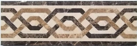 Casablanca 4 X 12 Marble Waterjet Border - Polished
