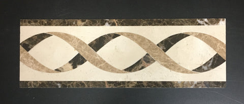 Rome 4 X 12 Marble Waterjet Border - Polished