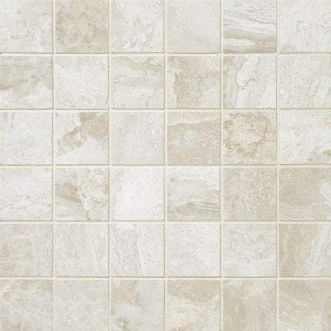 2 X 2 Diano Royal ( Queen Beige ) Marble Polished Mosaic Tile
