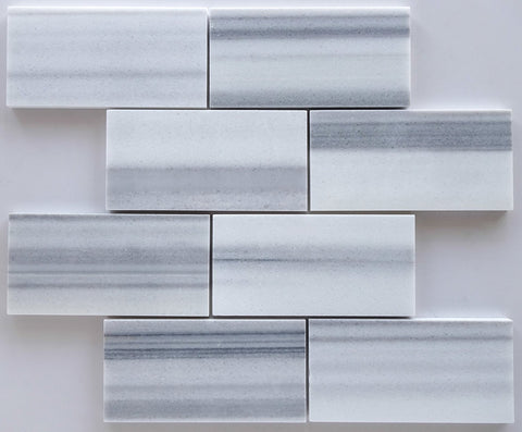 3 X 6 Mink Marmara Equator Marble Polished Subway Brick Field Tile - American Tile Depot - Shower, Backsplash, Bathroom, Kitchen, Deck & Patio, Decorative, Floor, Wall, Ceiling, Powder Room, Indoor, Outdoor, Commercial, Residential, Interior, Exterior