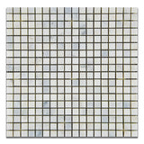5/8 X 5/8 Oriental White / Asian Statuary Marble Polished Mosaic Tile - American Tile Depot - Commercial and Residential (Interior & Exterior), Indoor, Outdoor, Shower, Backsplash, Bathroom, Kitchen, Deck & Patio, Decorative, Floor, Wall, Ceiling, Powder Room - 1