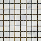 5/8 X 5/8 Oriental White / Asian Statuary Marble Polished Mosaic Tile - American Tile Depot - Commercial and Residential (Interior & Exterior), Indoor, Outdoor, Shower, Backsplash, Bathroom, Kitchen, Deck & Patio, Decorative, Floor, Wall, Ceiling, Powder Room - 2