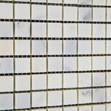 5/8 X 5/8 Oriental White / Asian Statuary Marble Polished Mosaic Tile - American Tile Depot - Commercial and Residential (Interior & Exterior), Indoor, Outdoor, Shower, Backsplash, Bathroom, Kitchen, Deck & Patio, Decorative, Floor, Wall, Ceiling, Powder Room - 3