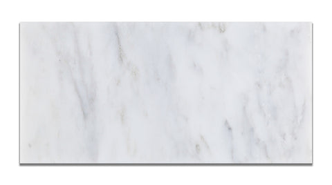 6 X 12 Oriental White / Asian Statuary Marble Polished Subway Brick Field Tile - American Tile Depot - Commercial and Residential (Interior & Exterior), Indoor, Outdoor, Shower, Backsplash, Bathroom, Kitchen, Deck & Patio, Decorative, Floor, Wall, Ceiling, Powder Room - 1