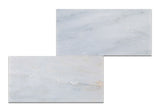 6 X 12 Oriental White / Asian Statuary Marble Polished Subway Brick Field Tile - American Tile Depot - Commercial and Residential (Interior & Exterior), Indoor, Outdoor, Shower, Backsplash, Bathroom, Kitchen, Deck & Patio, Decorative, Floor, Wall, Ceiling, Powder Room - 3