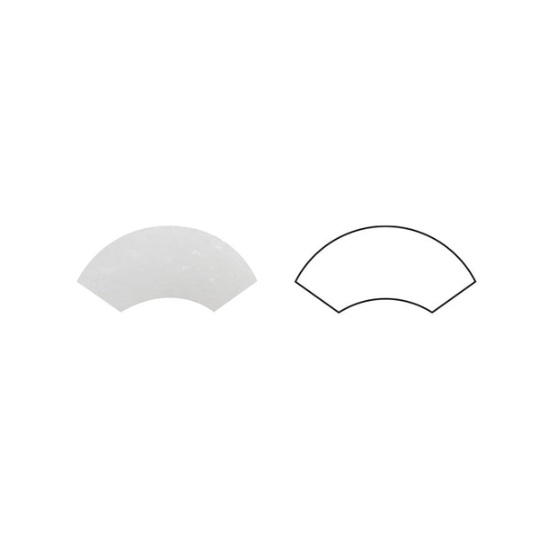 Thassos White Marble Quarter Round Trim Molding Honed