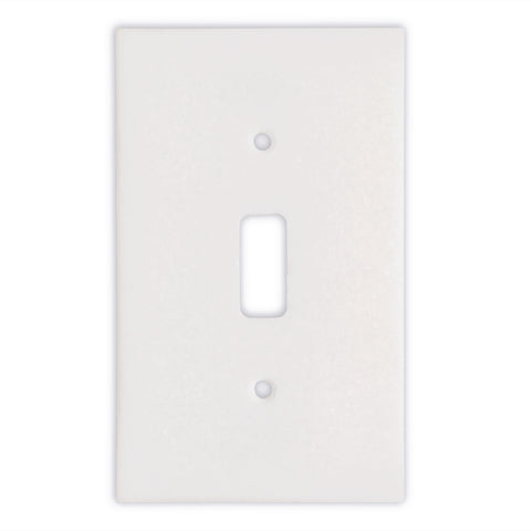 Thassos White Marble Single Toggle Switch Wall Plate / Switch Plate-Honed