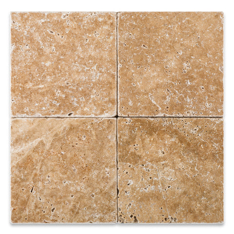 6 X 6 Walnut Travertine Tumbled Field Tile - American Tile Depot - Commercial and Residential (Interior & Exterior), Indoor, Outdoor, Shower, Backsplash, Bathroom, Kitchen, Deck & Patio, Decorative, Floor, Wall, Ceiling, Powder Room - 1