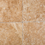 6 X 6 Walnut Travertine Tumbled Field Tile - American Tile Depot - Commercial and Residential (Interior & Exterior), Indoor, Outdoor, Shower, Backsplash, Bathroom, Kitchen, Deck & Patio, Decorative, Floor, Wall, Ceiling, Powder Room - 3