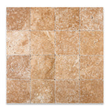 6 X 6 Walnut Travertine Tumbled Field Tile - American Tile Depot - Commercial and Residential (Interior & Exterior), Indoor, Outdoor, Shower, Backsplash, Bathroom, Kitchen, Deck & Patio, Decorative, Floor, Wall, Ceiling, Powder Room - 4