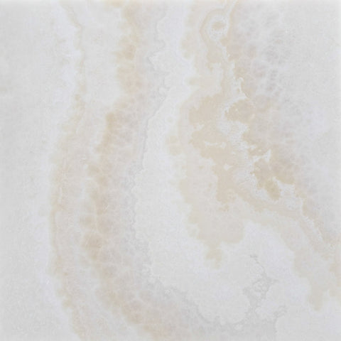12 X 12 Premium White Onyx CROSS-CUT Polished Field Tile - American Tile Depot - Shower, Backsplash, Bathroom, Kitchen, Deck & Patio, Decorative, Floor, Wall, Ceiling, Powder Room, Indoor, Outdoor, Commercial, Residential, Interior, Exterior