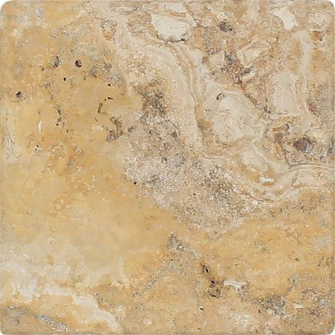6 X 6 Valencia Travertine Tumbled Field Tile