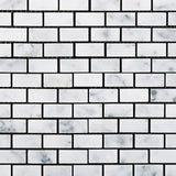 Carrara White Marble Honed Baby Brick Mosaic Tile - American Tile Depot - Commercial and Residential (Interior & Exterior), Indoor, Outdoor, Shower, Backsplash, Bathroom, Kitchen, Deck & Patio, Decorative, Floor, Wall, Ceiling, Powder Room - 2