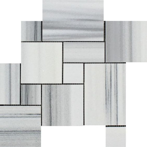 Mink Marmara Equator Marble 4-Pieced OPUS Mini-Pattern Polished Mosaic Tile