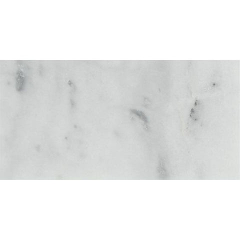 3 x 6 Bianco Venatino (Bianco Mare) Marble Honed Brick Field Tile