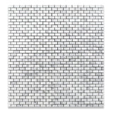 Carrara White Marble Honed Baby Brick Mosaic Tile - American Tile Depot - Commercial and Residential (Interior & Exterior), Indoor, Outdoor, Shower, Backsplash, Bathroom, Kitchen, Deck & Patio, Decorative, Floor, Wall, Ceiling, Powder Room - 4