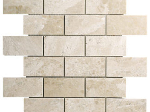 2 X 4 Diano Royal ( Queen Beige ) Marble Polished Mosaic Tile