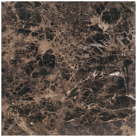 6 X 6 Emperador Dark Marble Polished Field Tile