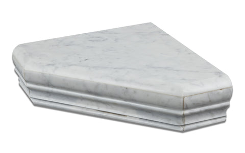 Carrara White Marble Hand-Made Custom Shower Corner Shelf - Polished - American Tile Depot - Commercial and Residential (Interior & Exterior), Indoor, Outdoor, Shower, Backsplash, Bathroom, Kitchen, Deck & Patio, Decorative, Floor, Wall, Ceiling, Powder Room - 1