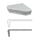 Carrara White Marble Hand-Made Custom Shower Corner Shelf - Polished - American Tile Depot - Commercial and Residential (Interior & Exterior), Indoor, Outdoor, Shower, Backsplash, Bathroom, Kitchen, Deck & Patio, Decorative, Floor, Wall, Ceiling, Powder Room - 2