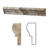 Philadelphia Travertine Honed OG-1 Chair Rail Molding Trim - American Tile Depot - Commercial and Residential (Interior & Exterior), Indoor, Outdoor, Shower, Backsplash, Bathroom, Kitchen, Deck & Patio, Decorative, Floor, Wall, Ceiling, Powder Room - 1