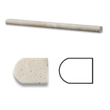 Ivory Travertine Honed 1/2 X 12 Pencil Liner - American Tile Depot - Commercial and Residential (Interior & Exterior), Indoor, Outdoor, Shower, Backsplash, Bathroom, Kitchen, Deck & Patio, Decorative, Floor, Wall, Ceiling, Powder Room - 1