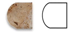 Scabos Travertine Honed 1 X 12 Dome Liner - American Tile Depot - Commercial and Residential (Interior & Exterior), Indoor, Outdoor, Shower, Backsplash, Bathroom, Kitchen, Deck & Patio, Decorative, Floor, Wall, Ceiling, Powder Room - 4