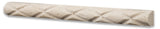Ivory Travertine Honed 1 X 12 Diamond Rope Liner - American Tile Depot - Commercial and Residential (Interior & Exterior), Indoor, Outdoor, Shower, Backsplash, Bathroom, Kitchen, Deck & Patio, Decorative, Floor, Wall, Ceiling, Powder Room - 3