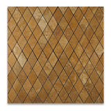 Gold / Yellow Travertine 2 X 4 Tumbled Diamond Mosaic Tile - American Tile Depot - Commercial and Residential (Interior & Exterior), Indoor, Outdoor, Shower, Backsplash, Bathroom, Kitchen, Deck & Patio, Decorative, Floor, Wall, Ceiling, Powder Room - 4