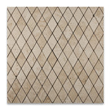 Ivory Travertine 2 X 4 Tumbled Diamond Mosaic Tile - American Tile Depot - Commercial and Residential (Interior & Exterior), Indoor, Outdoor, Shower, Backsplash, Bathroom, Kitchen, Deck & Patio, Decorative, Floor, Wall, Ceiling, Powder Room - 4