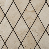 Ivory Travertine 2 X 4 Tumbled Diamond Mosaic Tile - American Tile Depot - Commercial and Residential (Interior & Exterior), Indoor, Outdoor, Shower, Backsplash, Bathroom, Kitchen, Deck & Patio, Decorative, Floor, Wall, Ceiling, Powder Room - 3