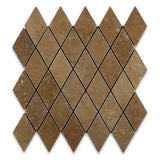 Noce Travertine 2 X 4 Tumbled Diamond Mosaic Tile - American Tile Depot - Commercial and Residential (Interior & Exterior), Indoor, Outdoor, Shower, Backsplash, Bathroom, Kitchen, Deck & Patio, Decorative, Floor, Wall, Ceiling, Powder Room - 1