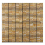 Gold / Yellow Travertine Tumbled Single Strip Mosaic Tile - American Tile Depot - Commercial and Residential (Interior & Exterior), Indoor, Outdoor, Shower, Backsplash, Bathroom, Kitchen, Deck & Patio, Decorative, Floor, Wall, Ceiling, Powder Room - 4