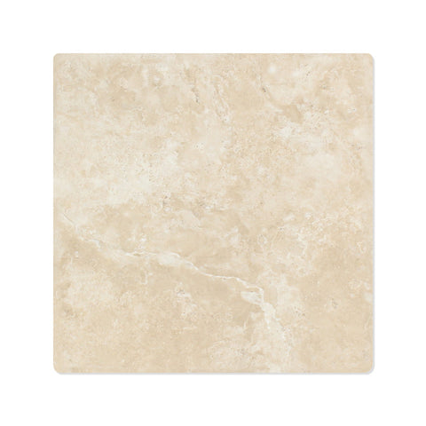 12 X 12 Durango Cream Travertine Field Tile Tumbled american-tile-depot