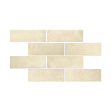 4 X 12 Crema Marfil Marble Honed Field Tile - American Tile Depot - Shower, Backsplash, Bathroom, Kitchen, Deck & Patio, Decorative, Floor, Wall, Ceiling, Powder Room, Indoor, Outdoor, Commercial, Residential, Interior, Exterior