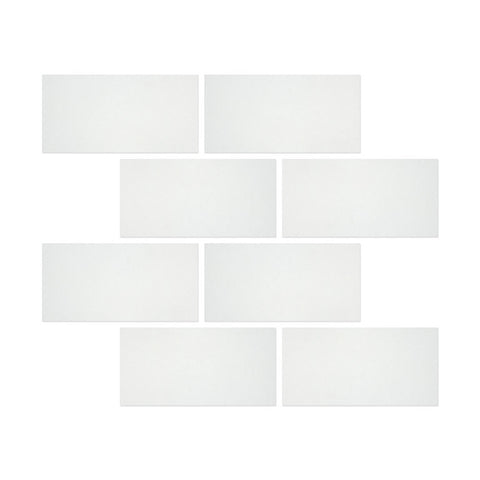 6 X 12 Thassos White Marble Honed Subway Brick Field Tile - American Tile Depot - Commercial and Residential (Interior & Exterior), Indoor, Outdoor, Shower, Backsplash, Bathroom, Kitchen, Deck & Patio, Decorative, Floor, Wall, Ceiling, Powder Room - 1