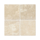 6 X 6 Durango Cream Travertine Field Tile Tumbled american-tile-depot