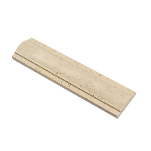 Ivory Travertine Arch / Baldwin Trim Molding  Honed - American Tile Depot