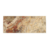 Scabos Travertine 5 X 12 Baseboard Trim Molding Honed- American Tile Depot