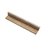 Noce Travertine Corner Ogee Stair Tread Trim Honed- American Tile Depot