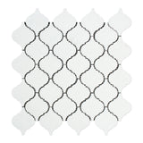 Thassos White Marble Polished Lantern Arabesque Mosaic Tile - American Tile Depot - Commercial and Residential (Interior & Exterior), Indoor, Outdoor, Shower, Backsplash, Bathroom, Kitchen, Deck & Patio, Decorative, Floor, Wall, Ceiling, Powder Room - 1