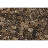 Emperador Dark Marble Polished Penny Round Mosaic Tile - American Tile Depot - Commercial and Residential (Interior & Exterior), Indoor, Outdoor, Shower, Backsplash, Bathroom, Kitchen, Deck & Patio, Decorative, Floor, Wall, Ceiling, Powder Room - 2