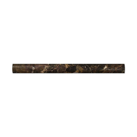 Emperador Dark Marble Polished Quarter - Round Trim Molding - American Tile Depot - Commercial and Residential (Interior & Exterior), Indoor, Outdoor, Shower, Backsplash, Bathroom, Kitchen, Deck & Patio, Decorative, Floor, Wall, Ceiling, Powder Room - 1